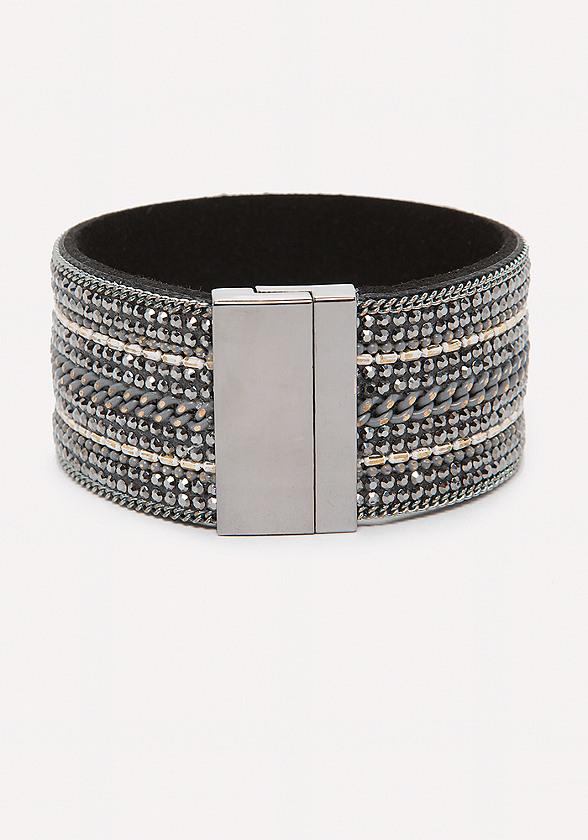 Crystal & Chain Cuff
