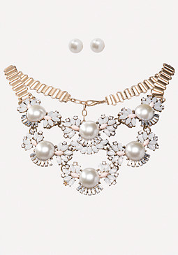 bebe Faux Pearl Necklace