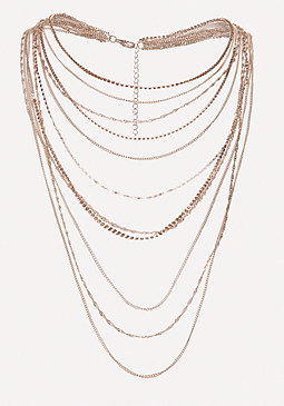 bebe Multi-Strand Chain Necklace
