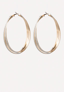 bebe Stardust Hoop Earrings