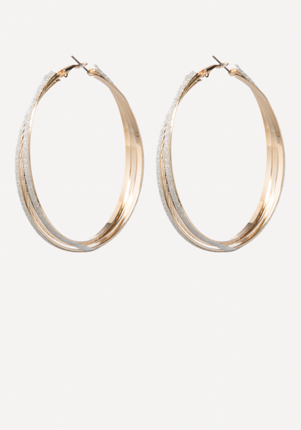 Stardust Hoop Earrings at bebe in Sherman Oaks, CA | Tuggl