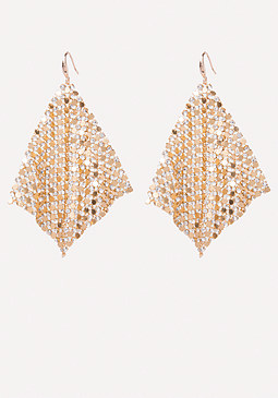 bebe Mesh Kite Earrings