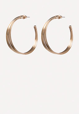 bebe Multi-Wire Hoop Earrings