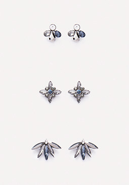 bebe Ornate Stud Earring Set