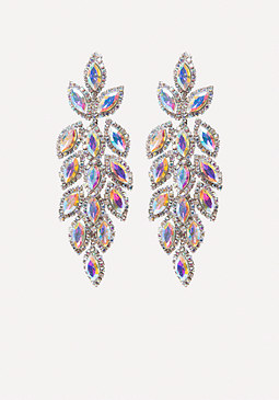 bebe Ornate Crystal Earrings