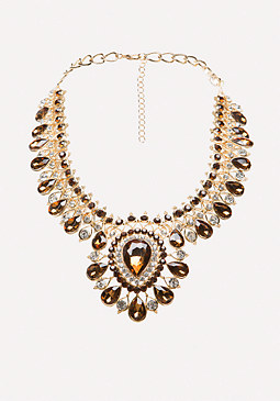 bebe Crystal Drop Necklace