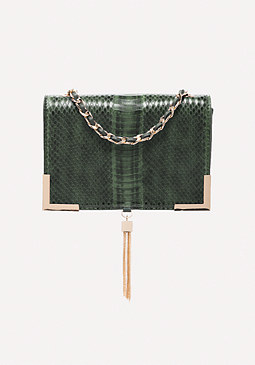 bebe Faux Snake Crossbody Bag