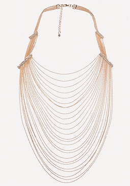 bebe Draped Shot Bead Necklace