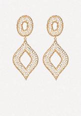 bebe Filigree Statement Earrings