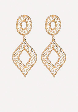 bebe Filigree Statement Earrings