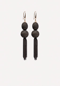 bebe Metal Tassel Earrings