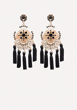 bebe Tassel Chandelier Earrings