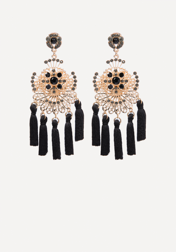 Tassel Chandelier Earrings at bebe in Sherman Oaks, CA | Tuggl