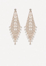 bebe Crystal Party Earrings