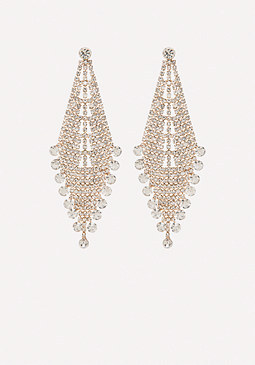 bebe Crystal Party Earrings