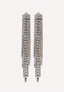 bebe Crystal Drama Earrings