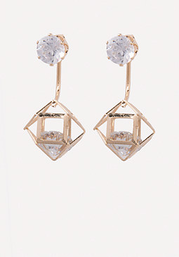 bebe Floating Crystal Earrings
