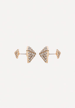 bebe Crystal Pyramid Earrings