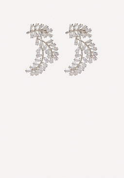 bebe Crystal Baguette Cuff Earrings
