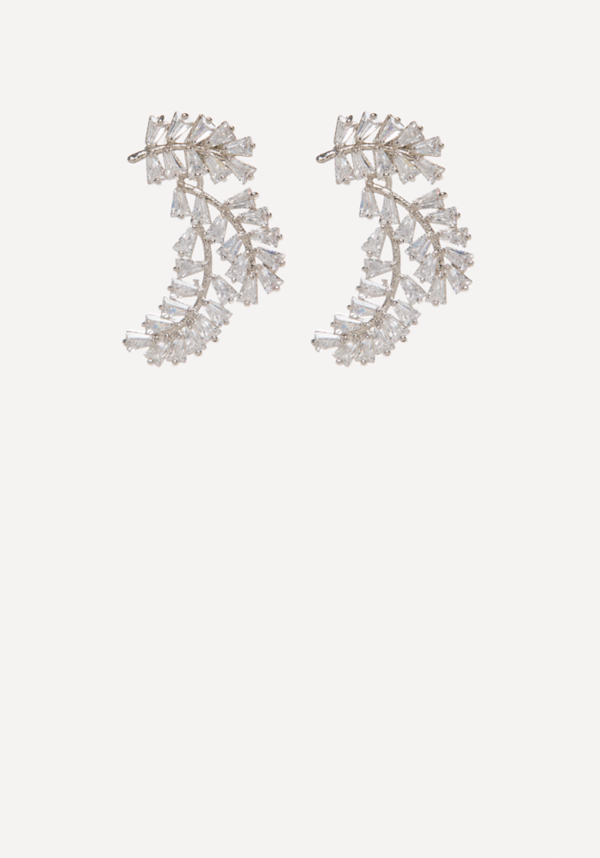 Crystal Baguette Cuff Earrings at bebe in Sherman Oaks, CA | Tuggl
