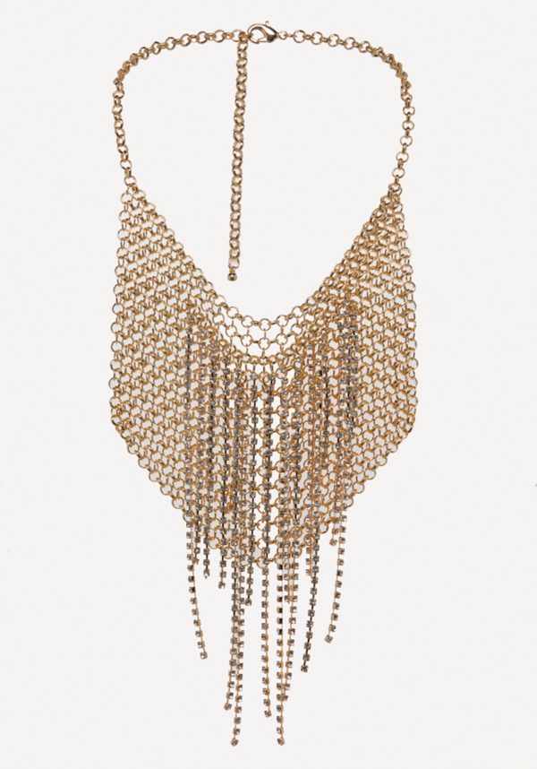 Chainmail Bib Necklace at bebe in Sherman Oaks, CA | Tuggl