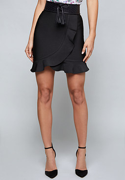 bebe Isabel Ruffled Skirt