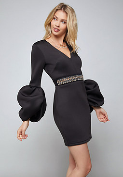 bebe Alexis Drama Sleeve Dress