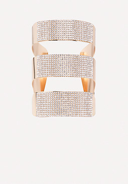 bebe Evelina Triple Row Cuff