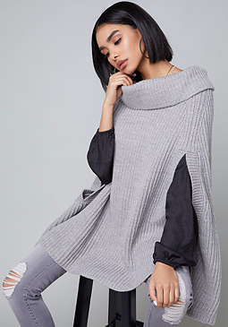 bebe Soulie Poncho Sweater