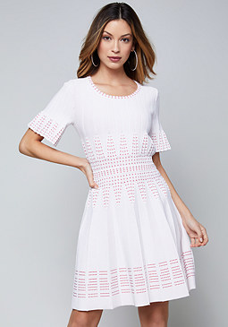 bebe 3/4 Sleeve Sweater Dress