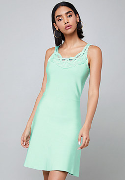 bebe Neckline Trim Dress