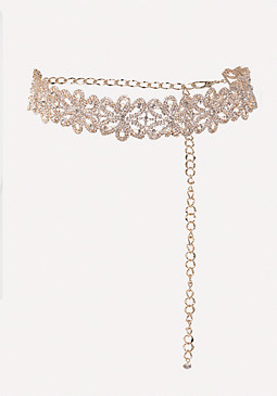 bebe Crystal Belt