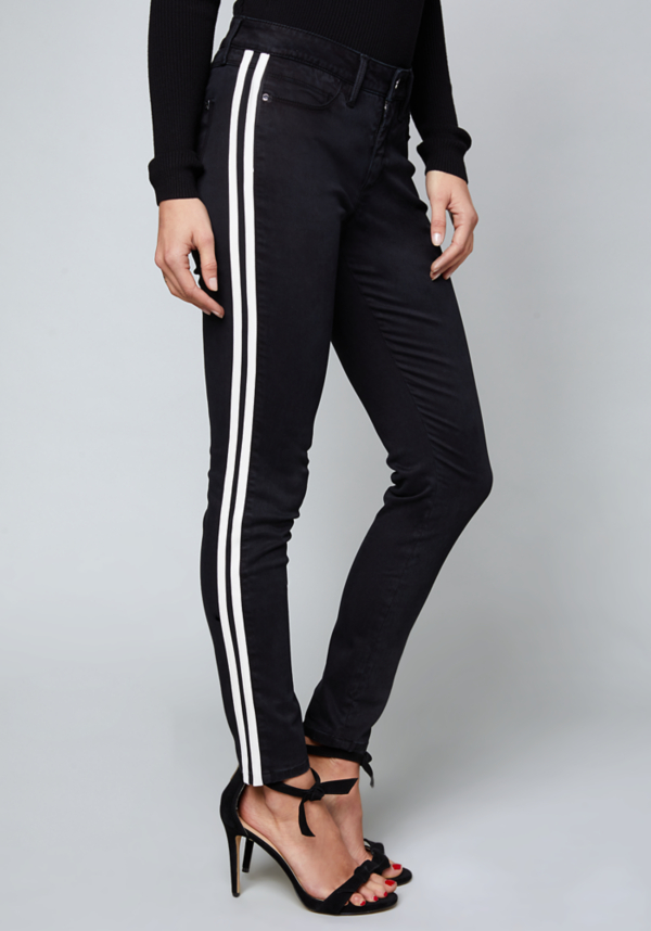 Tuxedo Stripe Skinny Jeans at bebe in Sherman Oaks, CA   Tuggl