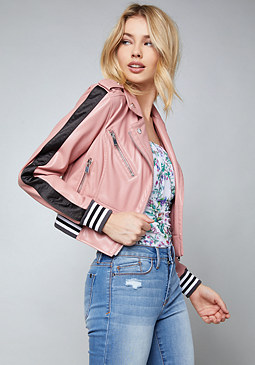 bebe Team Block Biker Jacket