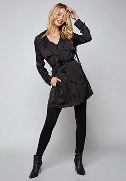 bebe Wrap Trench Coat
