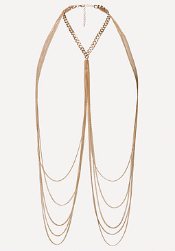 bebe Gold Body Chain