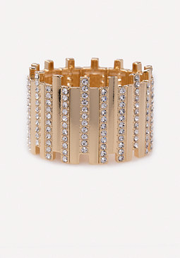 bebe Crystal Stretch Cuff