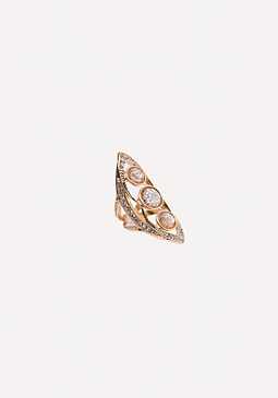 bebe 3 Crystal Cocktail Ring