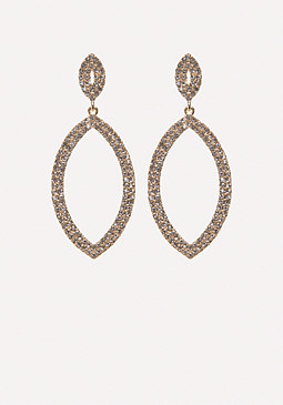 bebe Crystal Marquise Earrings