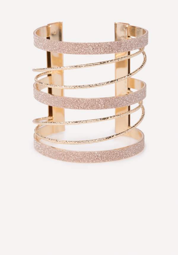 Glitter Metal Cuff at bebe in Sherman Oaks, CA | Tuggl