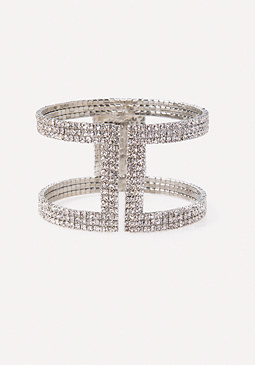 bebe Allover Crystal Cuff