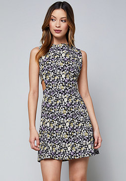 bebe Back Zip Cutout Dress