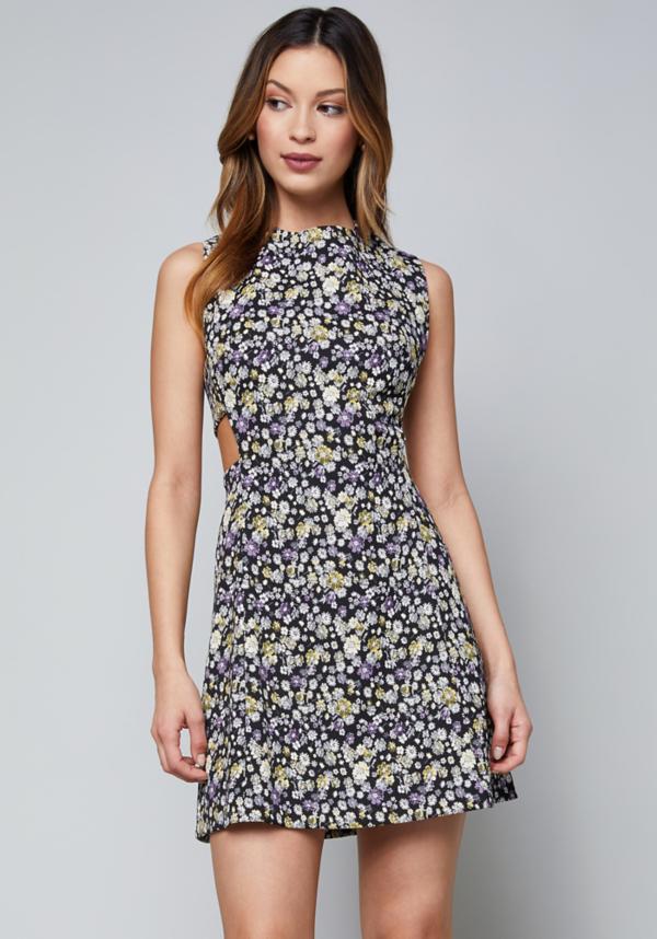 Back Zip Cutout Dress at bebe in Sherman Oaks, CA   Tuggl