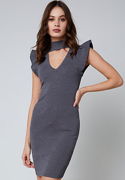 bebe Lace Up Sweater Dress