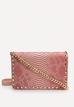 Faux Snake Crossbody Bag at bebe