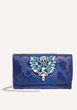 bebe Jeweled Crossbody Bag