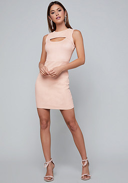 bebe Faux Suede Dress