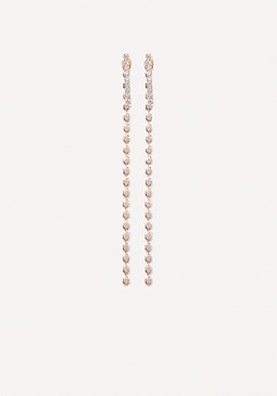 bebe Front-Back Linear Earrings