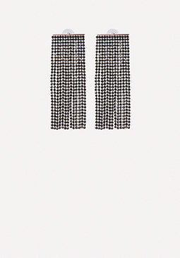 bebe Crystal Wide Earrings