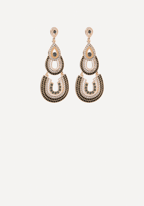 Layered Drop Earrings at bebe in Sherman Oaks, CA | Tuggl